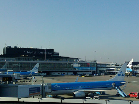 Schiphol Airport in Amsterdam
