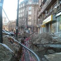 Typical Bucharest Sidewalk