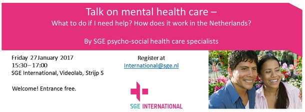 Free talk on mental health care in the Netherlands
