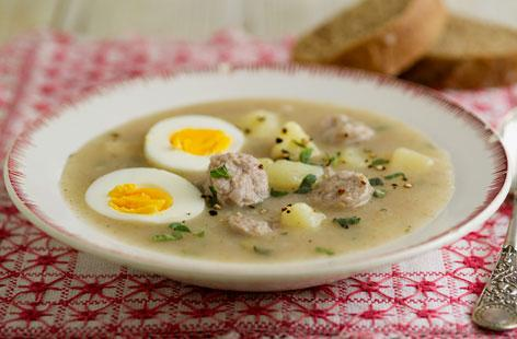 What to eat in Poland : żurek