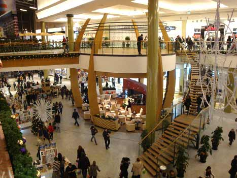 Krakow galerias and shopping malls