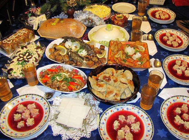Christmas Eve Meal In Poland