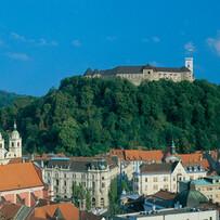 Ljubljana Castle over the Old Town