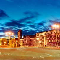 Night lights of Nezavisimost square