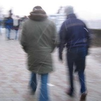 Walkers on Charles Bridge