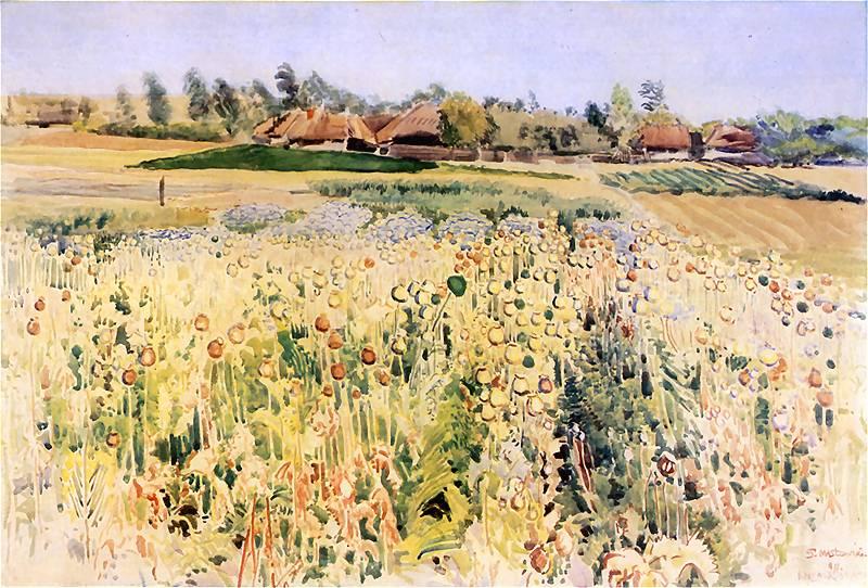 Stanisław_Masłowski_(1853-1926),_Poppies,_1911,_water-colour_on_paper (1)