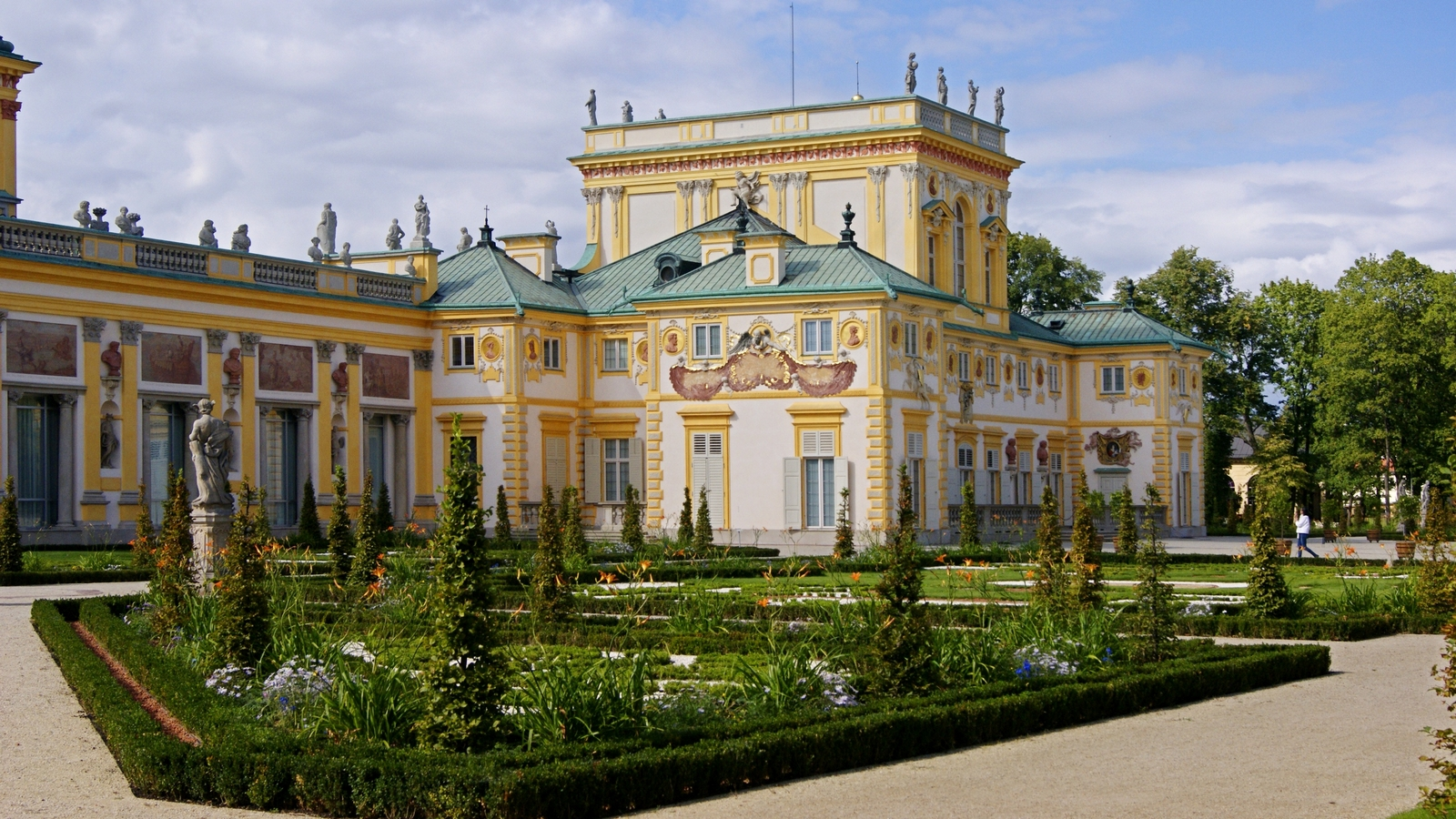 Wilanow palace Poland central eastern Europe beautiful palaces
