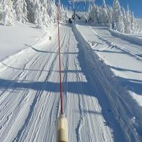 at  the ski-lift