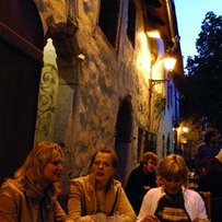 Street Cafe at Night