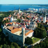 Aerial view of Toompea Castle