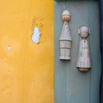Dolls on Wall