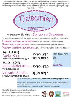 Workshops for children before Christmas